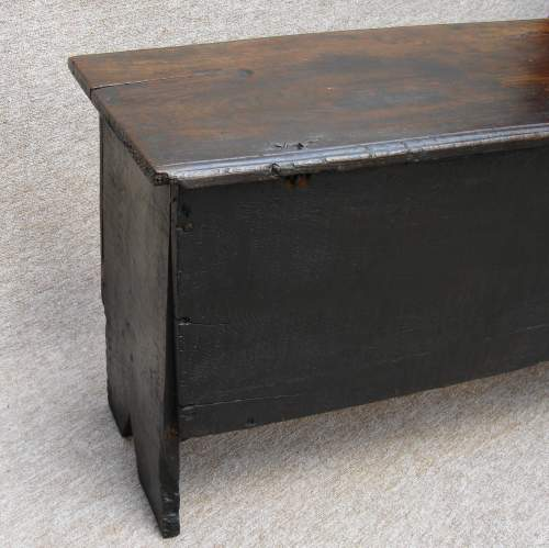 17th Century Six Plank Oak Chest image-3