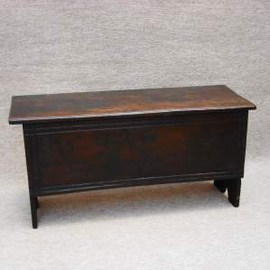 17th Century Six Plank Oak Chest