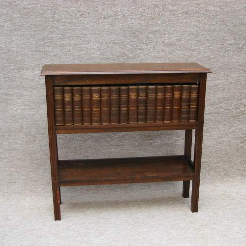 Mahogany Book Case with Dickens Books image-1