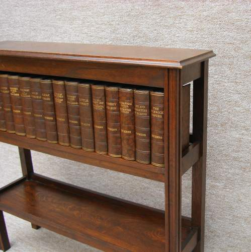 Mahogany Book Case with Dickens Books image-2
