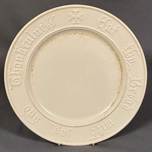 Vintage White Bread Plate image-1