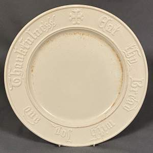 Vintage White Bread Plate