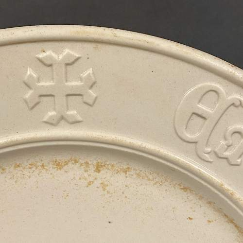Vintage White Bread Plate image-2