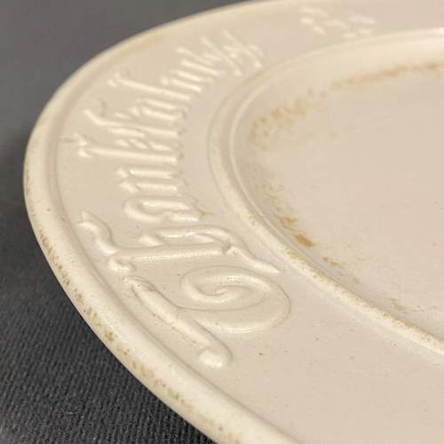 Vintage White Bread Plate image-3