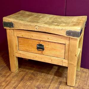 Small Vintage Butchers Block