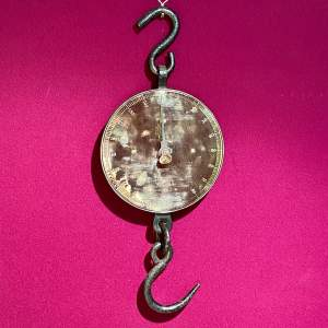 Large Salter Brass Face Hanging Scales
