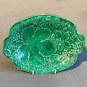 Victorian Green Majolica Dish