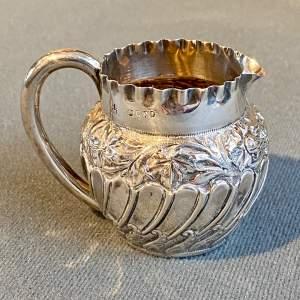 Late Victorian Silver Cream Jug