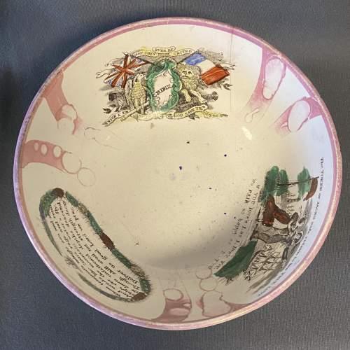 19th Century Sailors Return Sunderland Lustre Bowl image-2