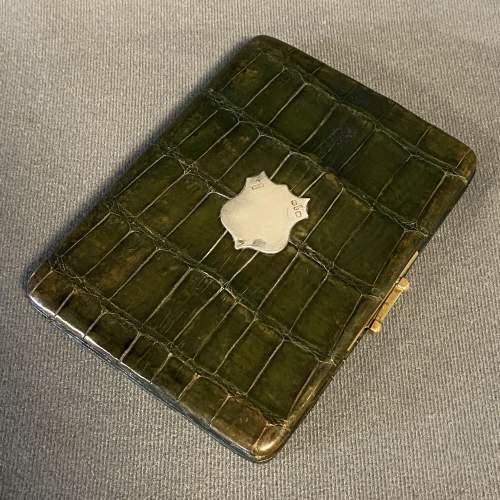 Victorian Crocodile Skin Cigar Case image-1