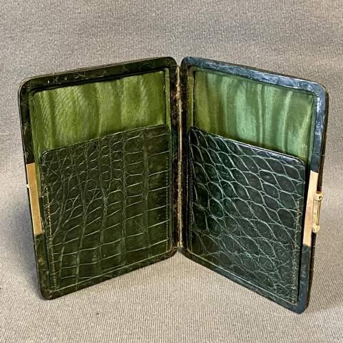 Victorian Crocodile Skin Cigar Case image-2