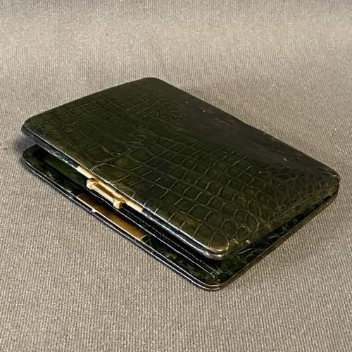 Victorian Crocodile Skin Cigar Case image-3
