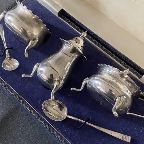 Cased Silver Cruet Set image-2