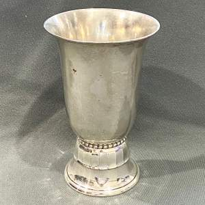 Danish Art Deco Silver Plannished Vase