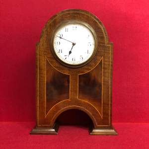 Edwardian Inlaid Mahogany Mantel Clock