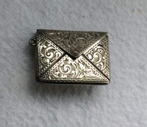 Adie and Lovekin Antique Silver Stamp Holder