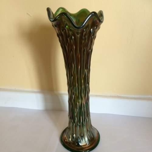 Art Deco Fenton Rustic Carnival Glass Vase image-1