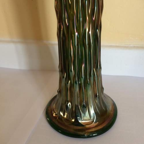 Art Deco Fenton Rustic Carnival Glass Vase image-2