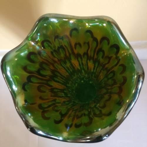 Art Deco Fenton Rustic Carnival Glass Vase image-5