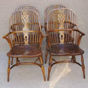 Set of Four 20th Century Windsor Chairs