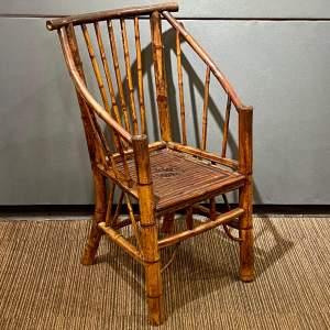 19th Century Aesthetic Movement Bamboo Chair