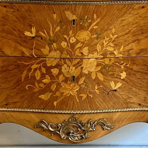 Early 20th Century Continental Inlaid Walnut Two Drawer Chest image-2