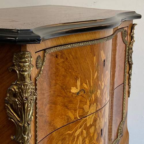 Early 20th Century Continental Inlaid Walnut Two Drawer Chest image-3