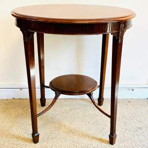 Edwardian Flame Mahogany Occasional Table