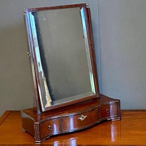 Chippendale Period Mahogany Serpentine Toilet Mirror image-1
