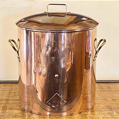Vintage Large Copper Hot Water Cooking Vessel image-1