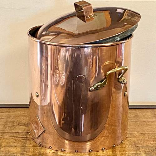 Vintage Large Copper Hot Water Cooking Vessel image-2