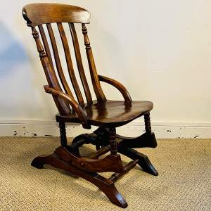 Unusual Anglo American Rocking Chair