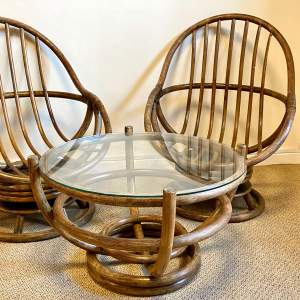 Mid 20th Century Angraves Bamboo Chairs and Coffee Table