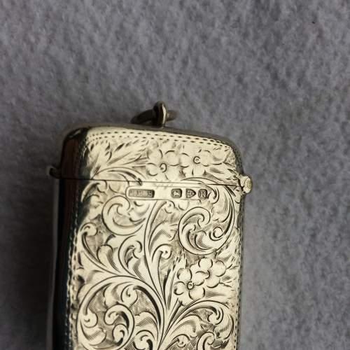 Late Victorian Solid Silver Vesta Case image-3