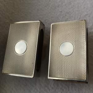 Pair of Art Deco Silver Matchbox Holders