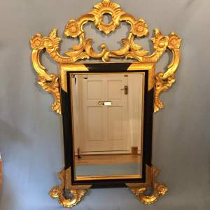 Handcrafted Ornate Italian Gilded and Ebonised Mirror