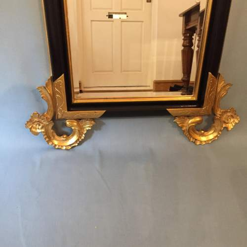 Handcrafted Ornate Italian Gilded and Ebonised Mirror image-3