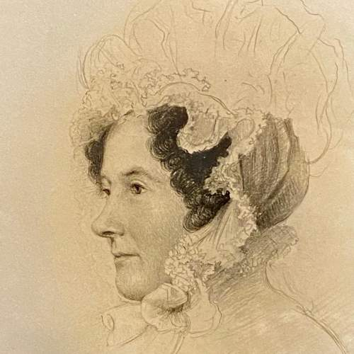 Victorian Pencil Drawn Portrait of a Member of the Rollo Family image-2