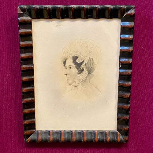 Victorian Pencil Drawn Portrait of a Member of the Rollo Family image-1