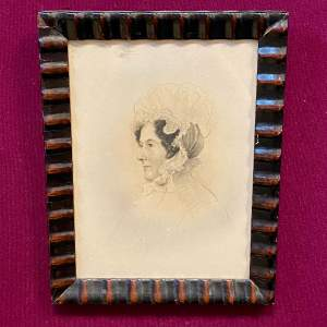 Victorian Pencil Drawn Portrait of a Member of the Rollo Family