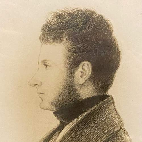 Victorian Pencil Drawn Portrait of David Rollo image-2