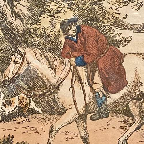Antique Engraving of a Hunting Scene image-2