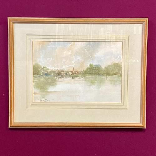 Original John Landrey Watercolour Landscape Painting image-1