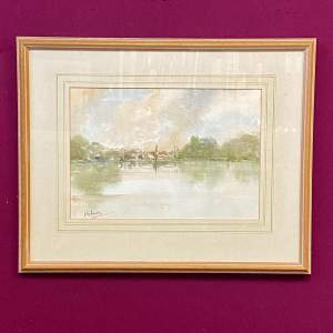 Original John Landrey Watercolour Landscape Painting