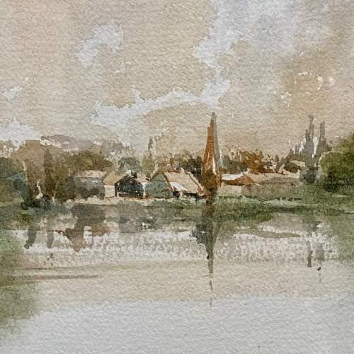 Original John Landrey Watercolour Landscape Painting image-2