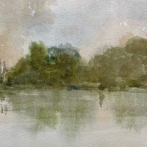 Original John Landrey Watercolour Landscape Painting image-3