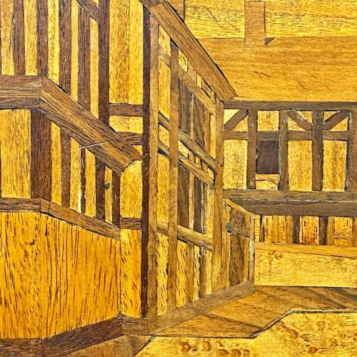 Framed Marquetry Picture of a House image-2