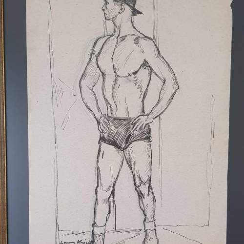Superb Original Ink and Pencil Drawing by Dame Laura Knight image-4