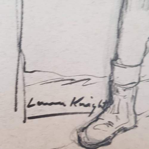 Superb Original Ink and Pencil Drawing by Dame Laura Knight image-5
