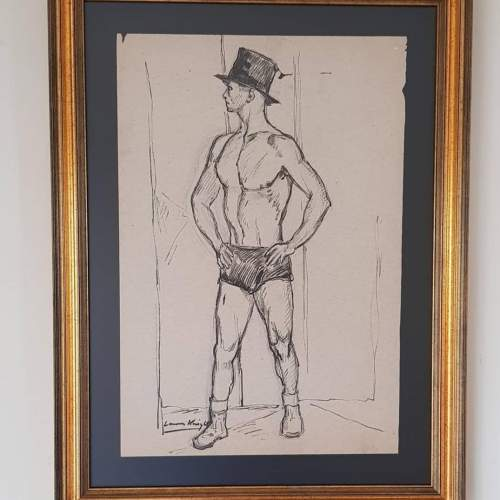 Superb Original Ink and Pencil Drawing by Dame Laura Knight image-6